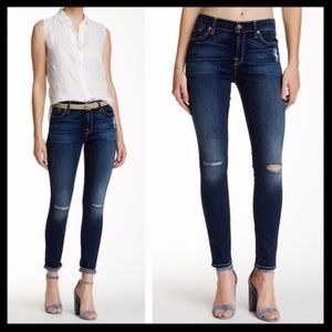 7 for all mankind // gwenevere skinny ankle jeans